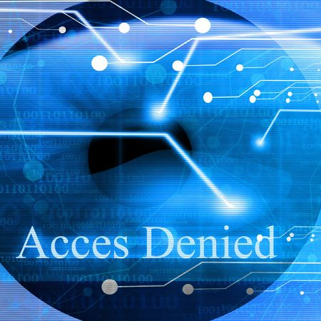 Access denied after eye scan Stock Photo - 3207207
