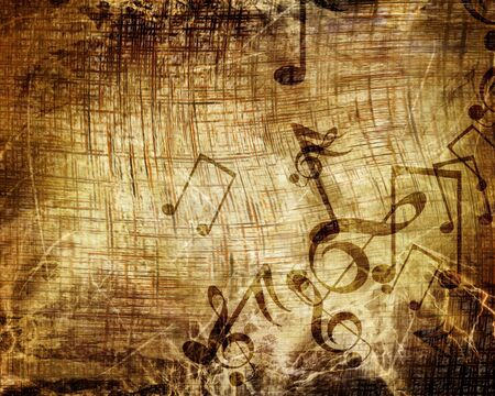 swirling: Old music sheet