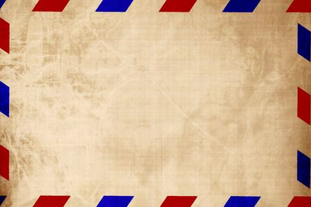 Vintage air mail envelope with some shades