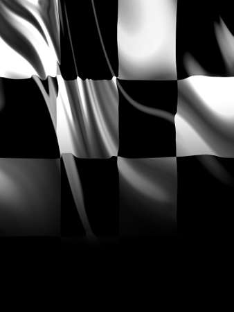 the fastest: Checkered flag Stock Photo