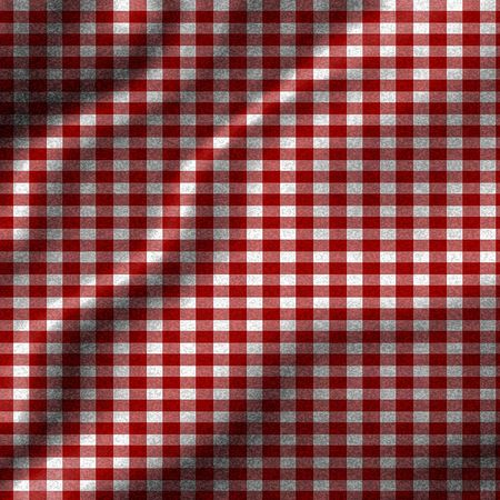 red picnic cloth with some folds in it Stock Photo - 3207560