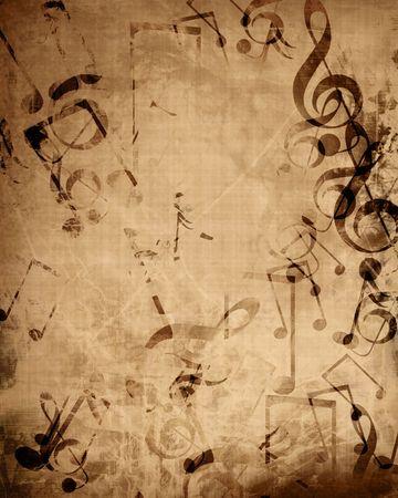 rękopis: Stare muzyki arkusz muzyczne notatki