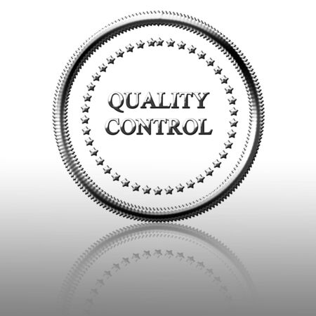 regulated: quality control: silver symbol with some reflection