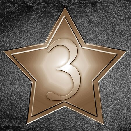 bronze star from the hollywood walk of fame Stock Photo - 3302895