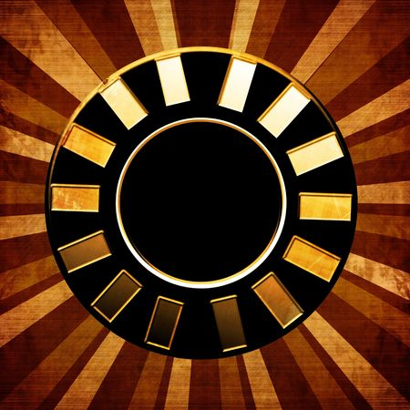 poker chip on an abstract background photo