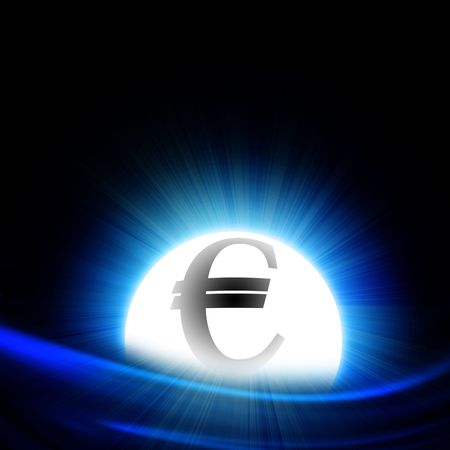 bal: crystal bal with integrated euro symbol Stock Photo