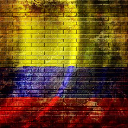 flag of colombia waving in the wind photo