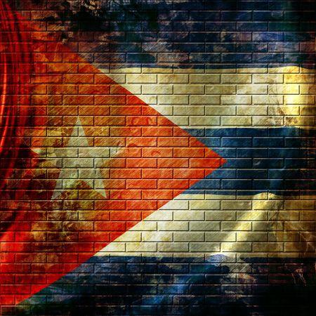cuban flag waving in the wind photo
