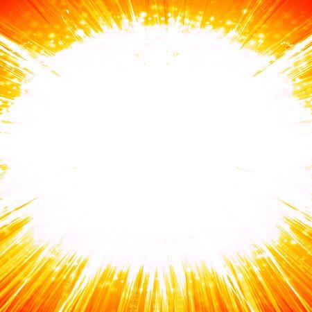 implode: explosion on an orange background