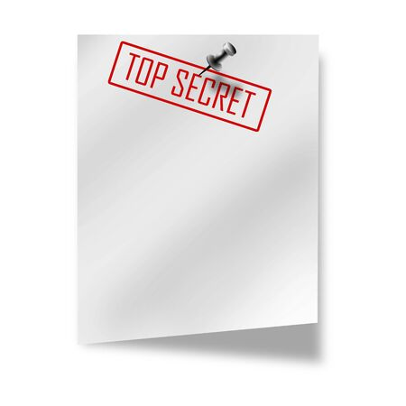 post it with top secret on it on a white background photo