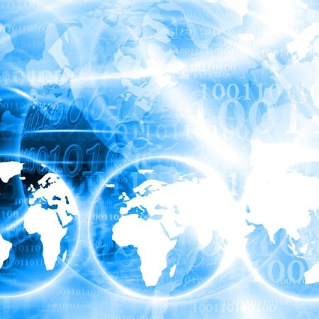 abstract digital world on a blue background Stock Photo - 3301576