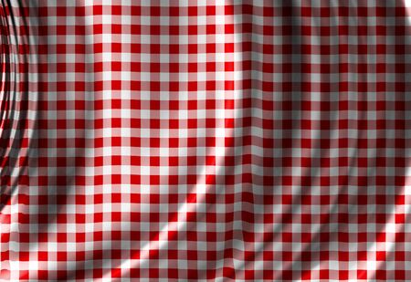 Red picnic texture with soft shades photo