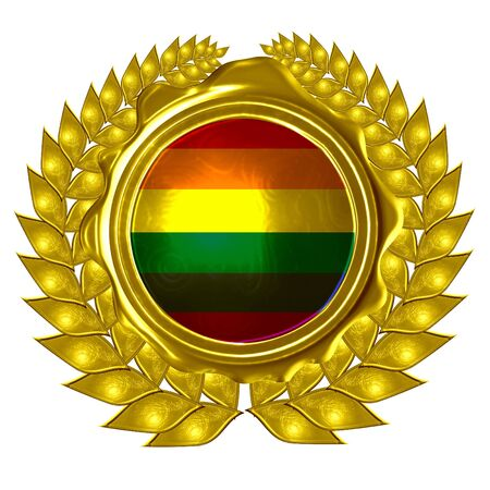 gay pride flag in a wreath Stock Photo