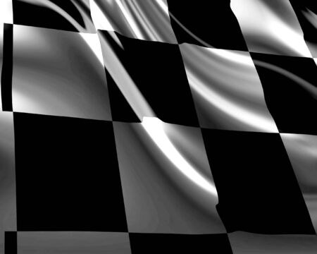 Checkered flag with white and black Stock Photo - 3300857