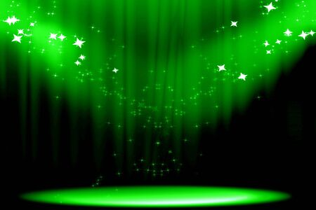 famous actor: Curtain background with spotlights and some glitters