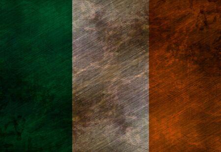 worn irish flag waving in the wind Stock Photo - 3302120