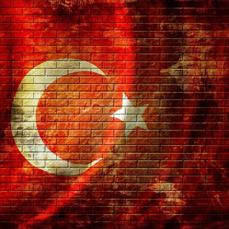 turkish flag waving in the wind photo