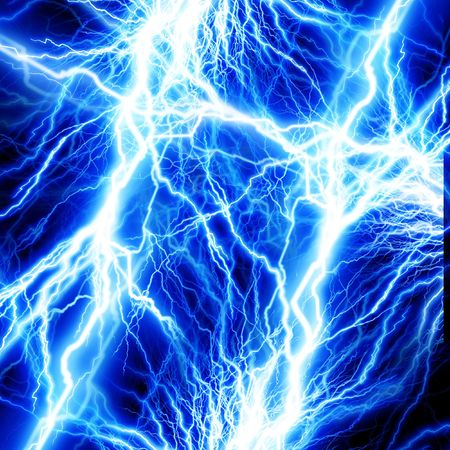 volts: lightning flash on a dark background