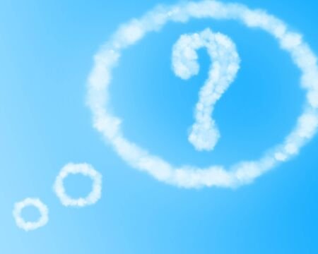 think tank: clouds in the shape of a question mark