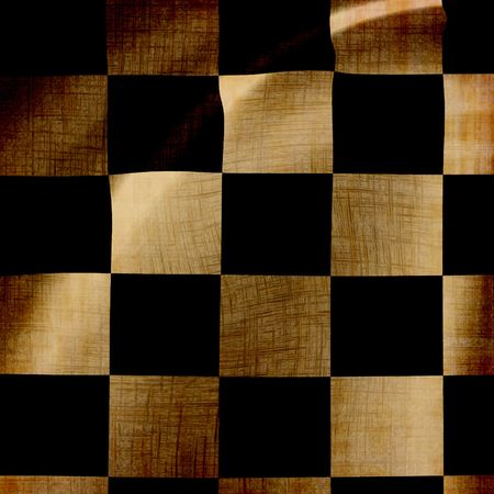 damaged checkered background with soft folds in it photo
