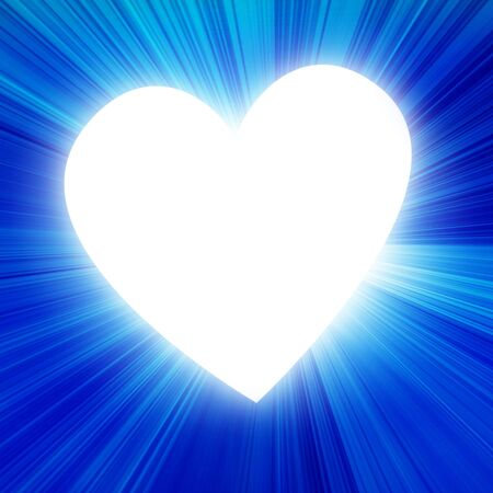 peacefull: blue heart in a blue background