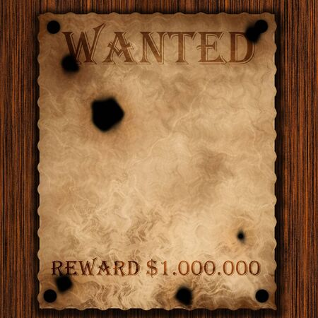 alive: old paper wanted sign: dead or alive Stock Photo