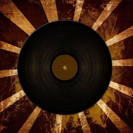 vinyl record on a grunge like background photo