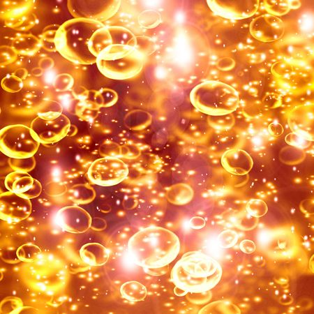 champagne bubbles on a golden background Stock Photo - 3356319