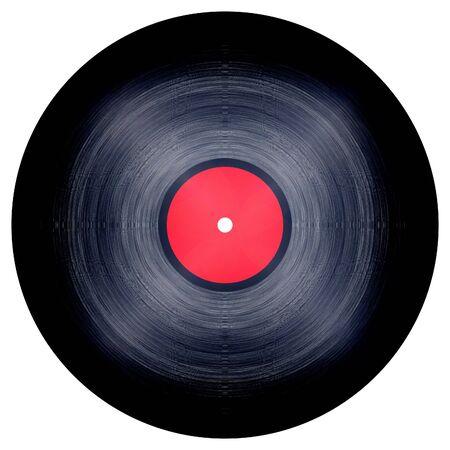 Isolated vinyl record on white background Stock Photo - 3356314