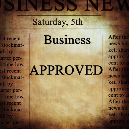 regulated: business news with approved written on it