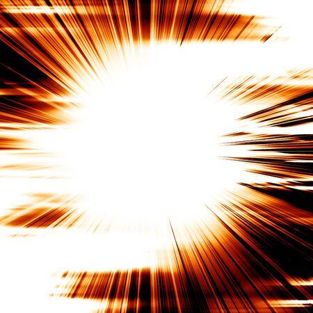 implode: bright explosion on a dark black background