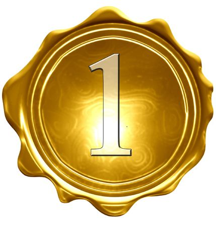 medalla de oro sobre un fondo blanco sólido