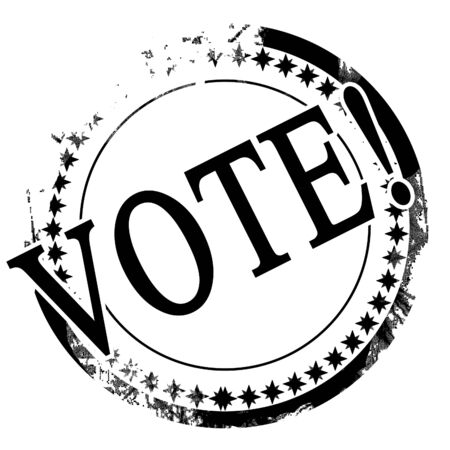 black stamp with vote written on it photo