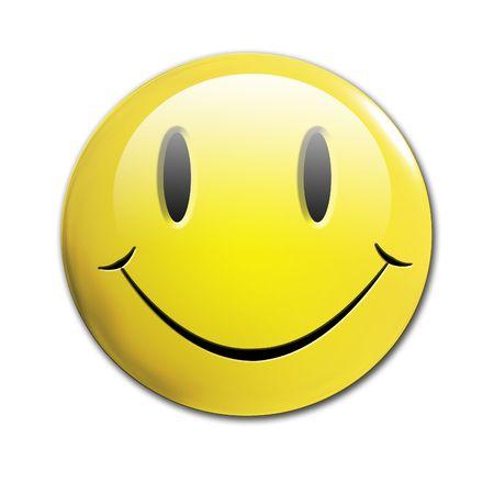 cara sonriente: cara sonriente sobre un fondo blanco s�lido