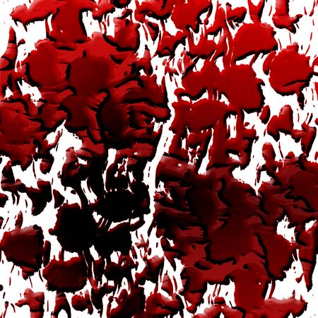 Blood splatter on a solid white background Stock Photo - 3495606