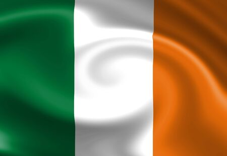 Irish flag waving in the wind Stock Photo - 3495571