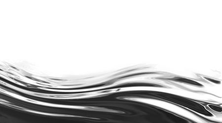 metal wave on a solid white background