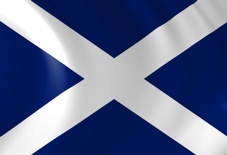 scottish flag: Scottish bandiera sventolare al vento