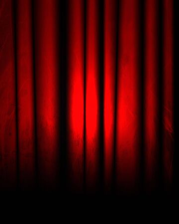 famous writer: red movie or theater curtain with some folds Stock Photo