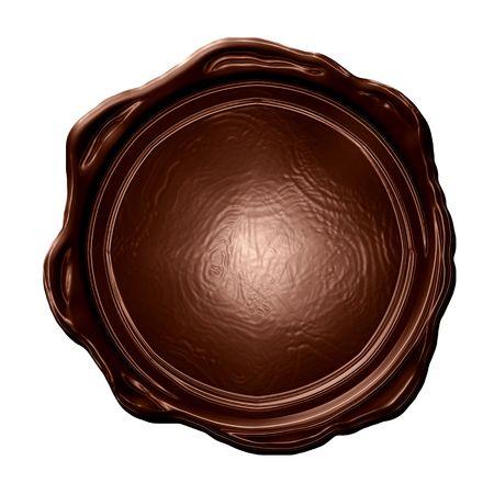 molted: chocolate blanco sello de un s�lido fondo blanco