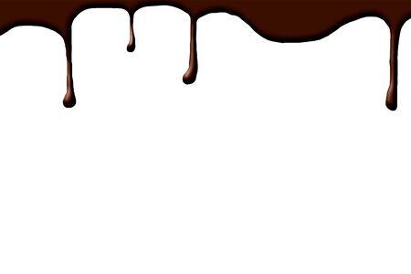 molted: chocolate por goteo sobre un fondo blanco Foto de archivo