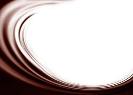 Chocolate waves on a solid white background