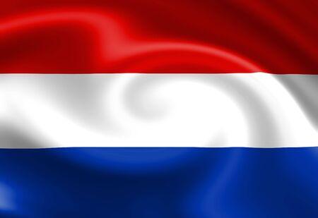 dutch flag: Dutch flag waving in the wind