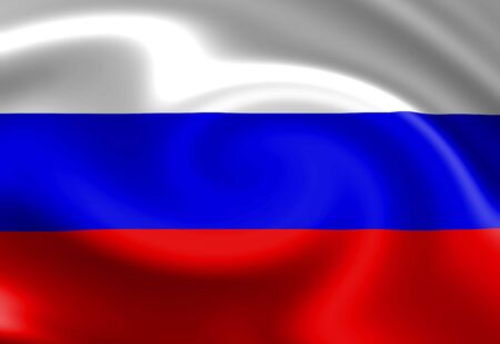 Russian flag waving in the wind Stock Photo - 3497062