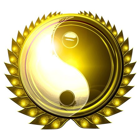 yin yang symbol on a white background Stock Photo - 3497401