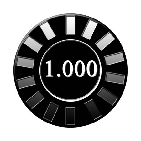 Isolated poker chip on a solid white background photo