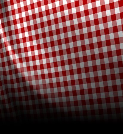 Red picnic texture with soft shades in it photo