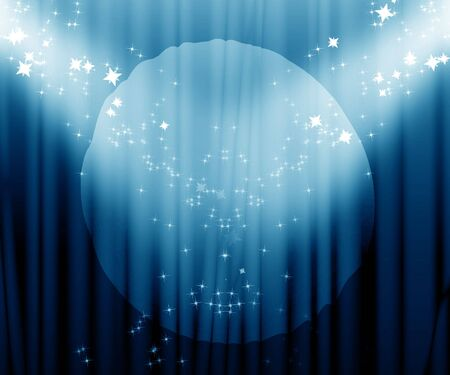 Movie or theatre curtain with a bright spotlight Stock Photo - 3497184