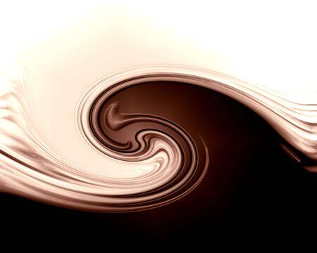 drippings: Elegante dise�o de chocolate con l�neas suaves que en Foto de archivo