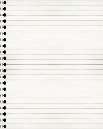 striped notebook with solid white paper in it (lined sheets) Stock Photo - 3509153